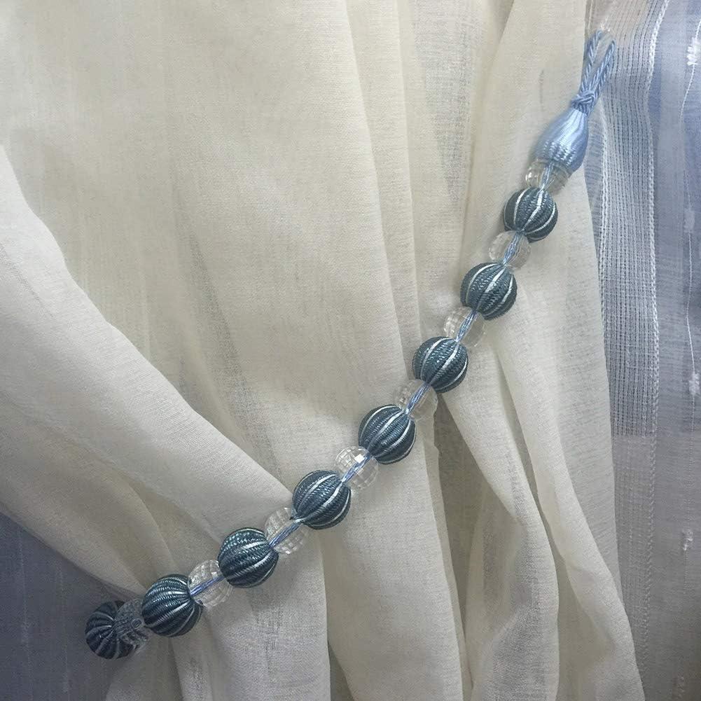 D/écoration en Corde Drape Embrasse Lsgepavilion Perles Rondes pour fen/être 1 pi/èce Boucle de Support Taille Unique Sangle de Rideau Rose