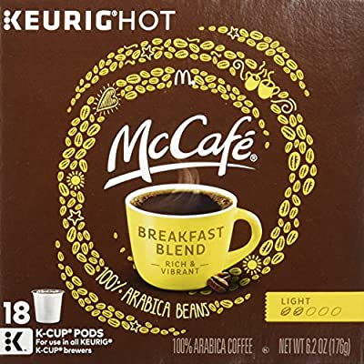 MCCAFE K-Cup Pods Coffee, Breakfast Blend, 18 Count (Pack Of 4)