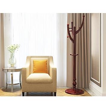 QPG Kleiderständer Regal Einfaches Modernes Schlafzimmer Hängende  Kleiderständer Regal Wohnzimmer Haus ( Farbe : Braun )