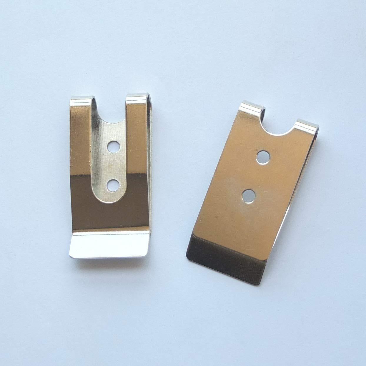 5 Pcs 54x25mm Belt Holster Clip Clasp Spring Hook Buckles Keyring Hardware 2.12X1 micoshop