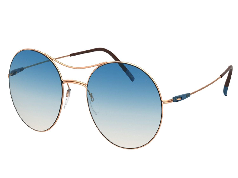 Silhouette Sunglasses Titan BREEZE 8694 (rose gold shiny / blue nude gradient lenses)