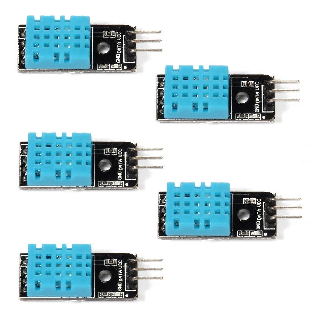 ARCELI 5PCS Temperature Humidity Sensor Module Digital DHT11 for Arduino Raspberry Pi 2 3 QC