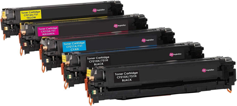 Negro 4 INK INSPIRATION/® T/óners compatibles para HP LaserJet Pro 200 Color M251n M251nw MFP M276n MFP M276nw Canon LBP-7100CN LBP-7110CW MF-8230CN 2400 p/áginas /& Cian//Magenta//Amarillo 1800 p/áginas