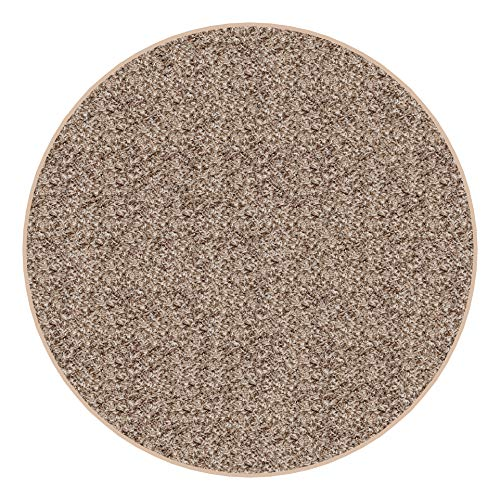 Koeckritz Round 12' Indoor Frieze Shag Area Rug - Bramble II- Plush Textured Carpet with Premium Bound Polyester Edges.