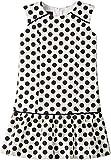 Oscar de la Renta Childrenswear Baby Girl's Dots On Tweed Drop Waist Dress (Toddler/Little Kids/Big Kids) Navy/White 2