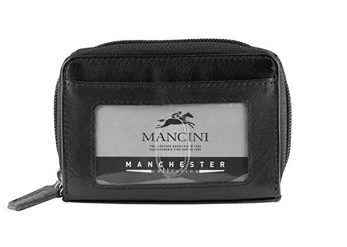 Amazon.com: Mancini RFID - Funda de piel para tarjetas de ...