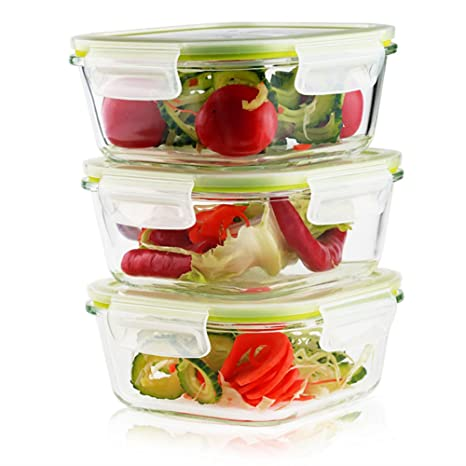 Glass Food Storage Containers With Locking Lids Fascinating Amazon Living Express 60 Pieces Glass Food Storage Container Set