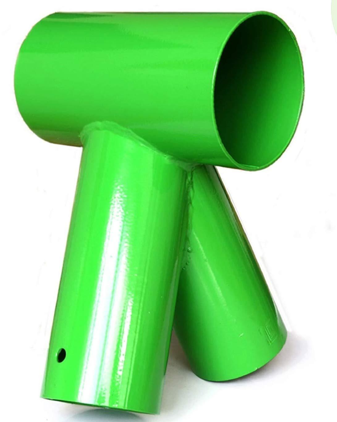 Raccord / Connecteur balançoire poutre en bois rond, coloris vert 100 / 80 mm de Gartenpirat GP1287
