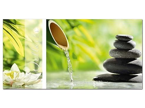 Amazon.de: Wandbild Glasbild Acrylglasbild für Badezimmer Spruch ...