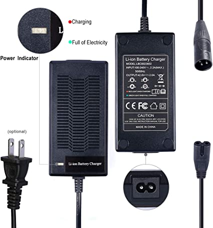 Chargeur pour électrique Vélo Pile Batterie avec Connecteur 3pin