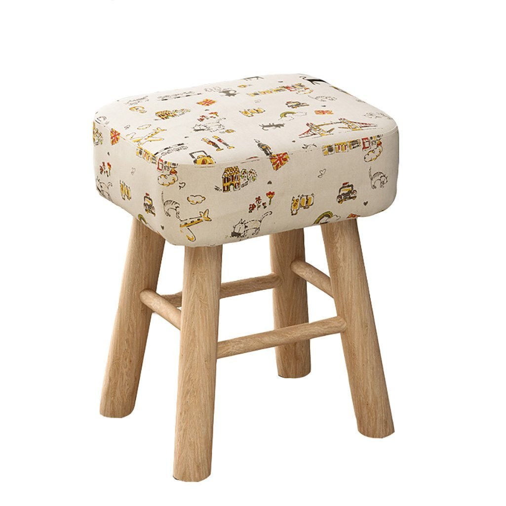 D 353043cm EU90 Home stool fashion creative small bench solid wood small chair sofa stool multifunctional seat - small stool (color   B, Size   29  43cm)