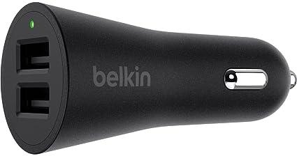 Belkin universal KfZ-Ladeger/ät mit USB-Anschluss 2.4A, 12 Watt, geeignet f/ür iPhone, iPad, iPod, Smartphones und Tablets schwarz