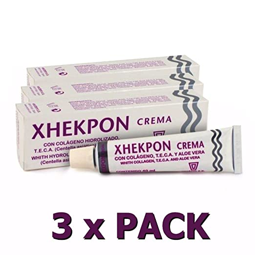 Amazon.com : PACK 3x XHEKPON CREMA COLAGENO CARA CUELLO ESCOTE SHIP WORLDWIDE BY CIRCLE SHOP : Beauty