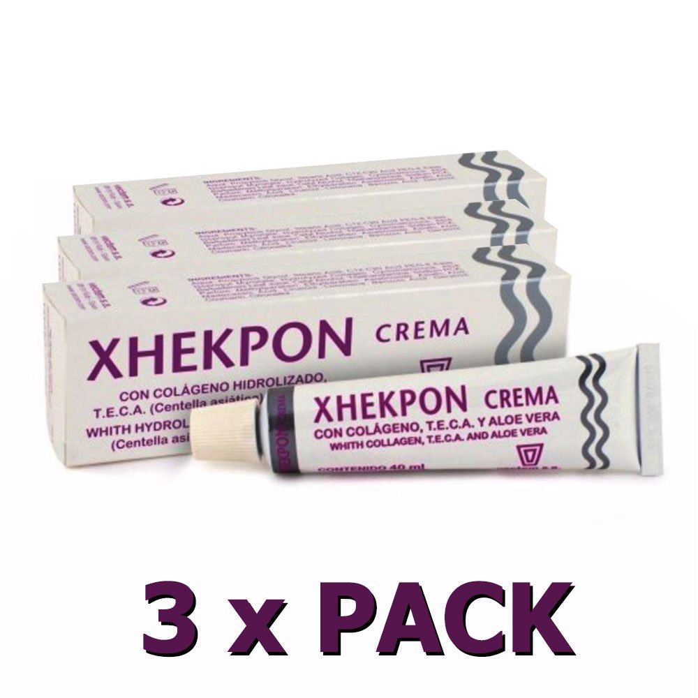 3-pack XHEKPON Face Neck & Decolleté Anti-ageing Cream with Collagen, Aloe Vera & Centella Asiatica 40 ml