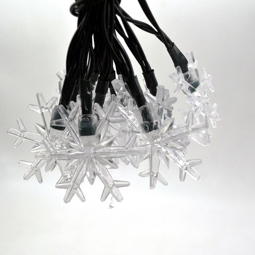 20 heads led snowflake Wedding decoration Solar energy color light by DMMSS (Image #2)