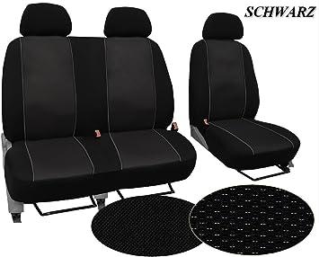 Maßgefertigter Sitzbezug Modellspezifischer Sitzbezug Fahrersitz 2er Beifahrersitzbank Für Volkswagen T6 Transporter Super Qualität Stoffart Vip In Diesem Angebot Schwarz Muster Im Foto Auto