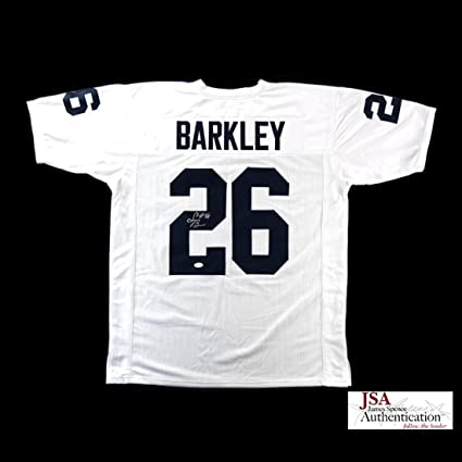 on sale 48dde 70c68 Saquon Barkley Autographed/Signed Penn State Custom White ...