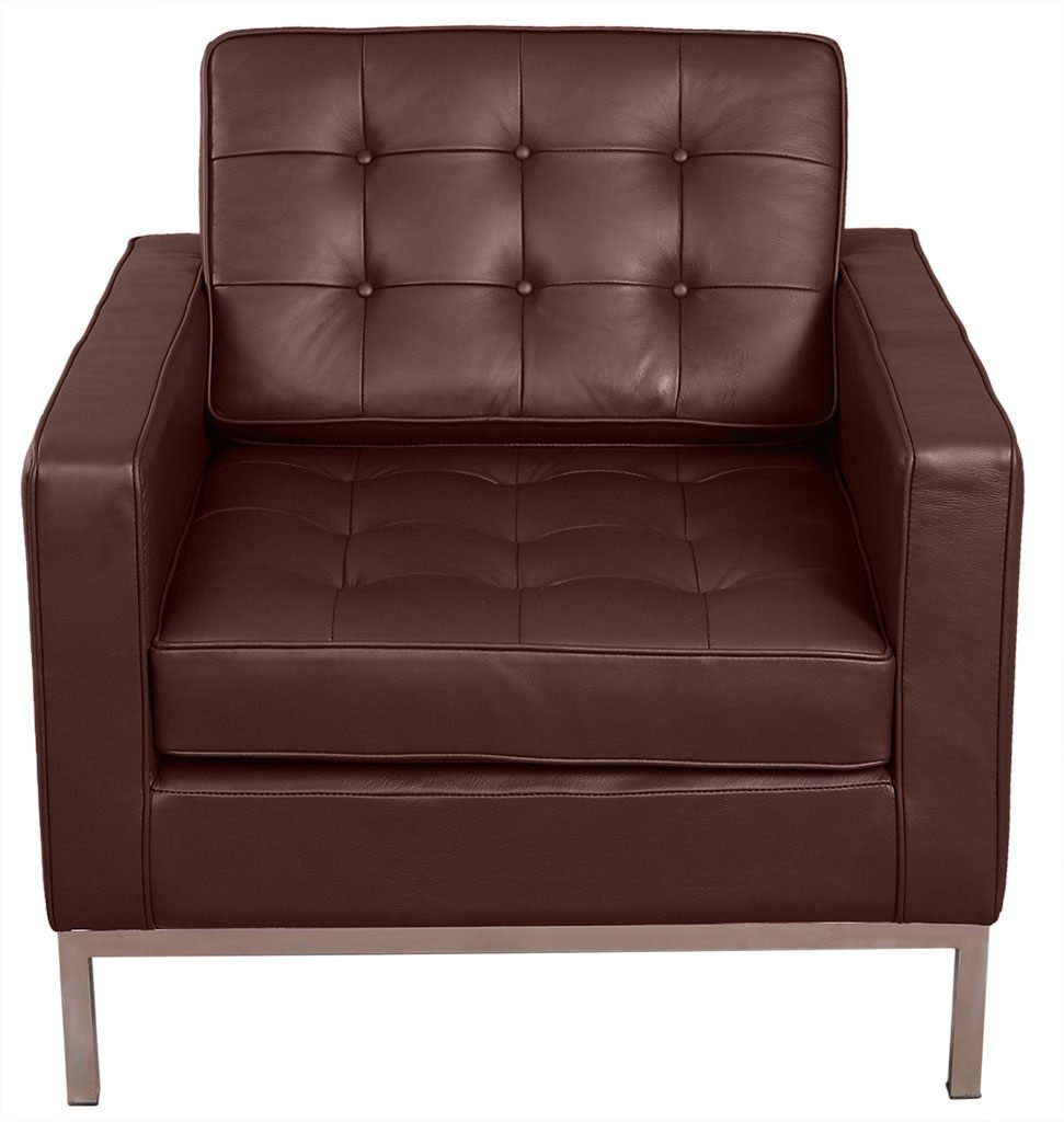 MLF/® Modern Style Sofa Armchair Multi Colors, Dark Brown Top Grain Aniline Leather