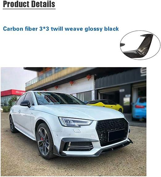 NAWQK 1Pair Carbon-Faser-Auto-Scheinwerfer-Augenbraue-Abdeckungs-Ordnung-Aufkleber-Kopf-Lampen Augenlid Zubeh/ör gepasst for Toyota CHR CHR 2016 2017 2018 2019