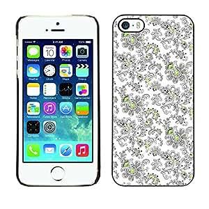 - Vintage Floral Retro Wallpaper/ Duro Snap en el tel??fono celular de la cubierta - Cao - For iPhone 5 / 5S