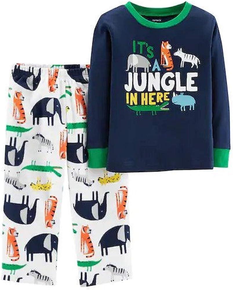 Carters 2-Piece Jungle Snug Fit Cotton /& Fleece PJs