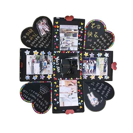 Promise2134 Caja de regalo de 5 capas hexagonal, cuadrilátero y ...