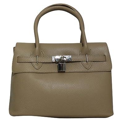 4f5b78c951654 Chapeau-tendance – Handtasche Leder taupe Clair – -Damen  Amazon.de ...