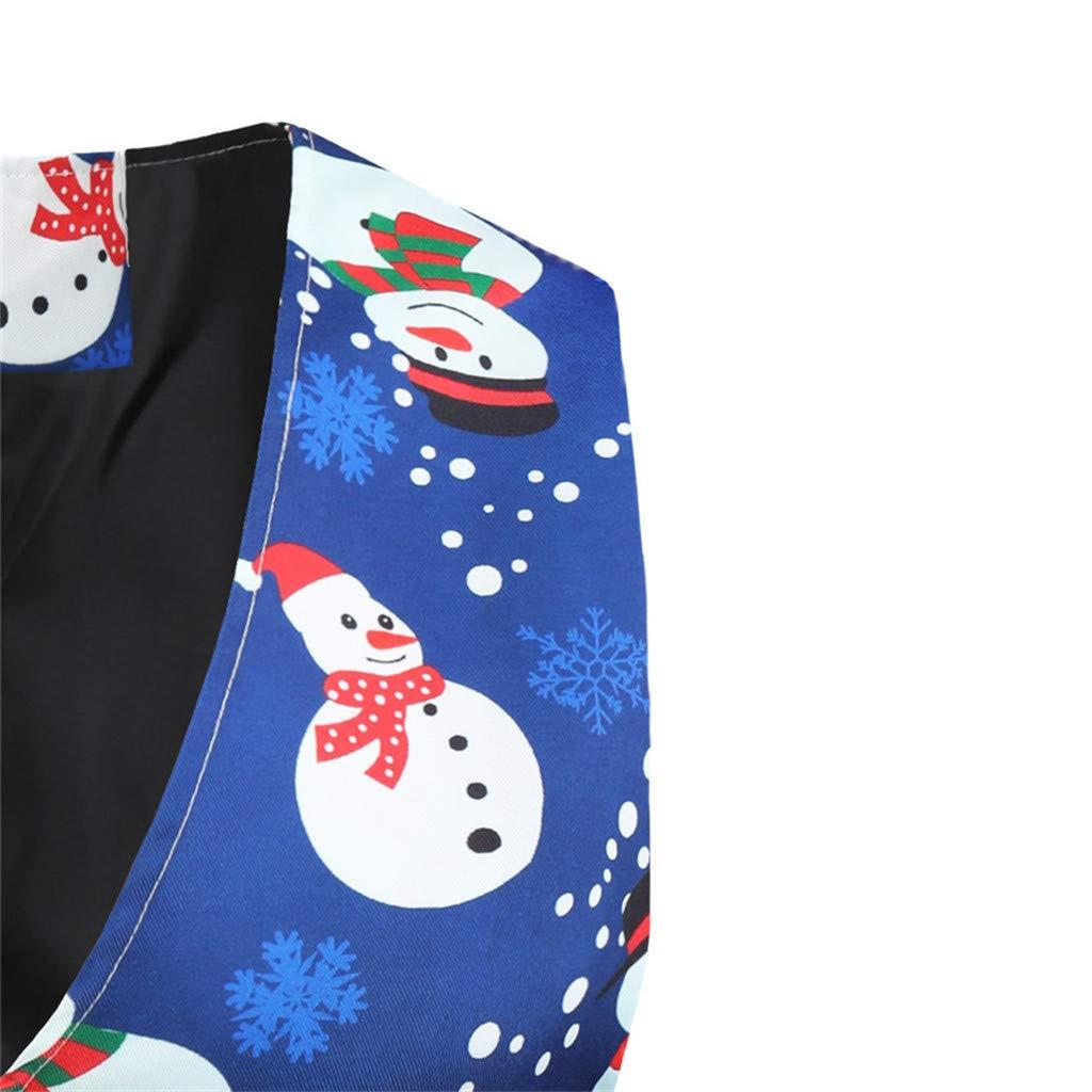 ASOBIMONO Mens Xmas Waistcoat Costumes V-Neck Christmas Party Suit Vest Sleeveless Jacket