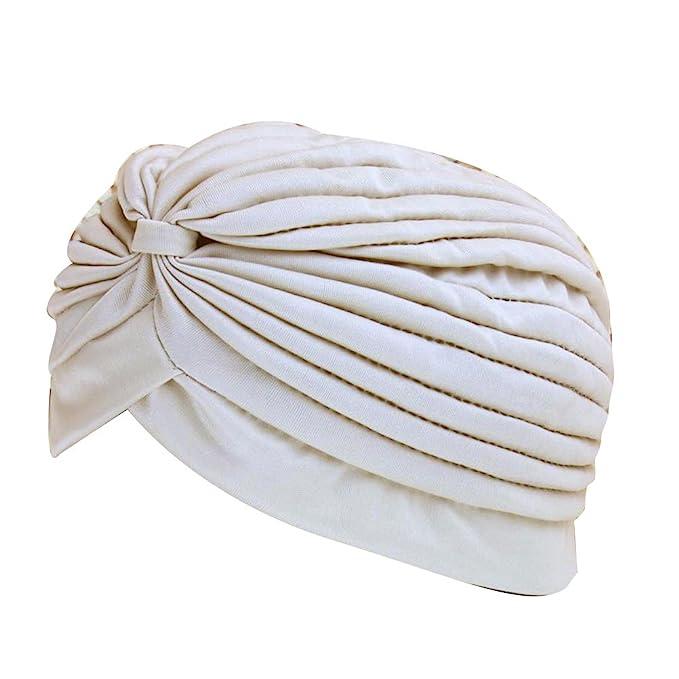 Zhhlaixing Hot Women Stretchy Turban Hijab Hat Pleated Yoga Sport Cap: Amazon.es: Ropa y accesorios