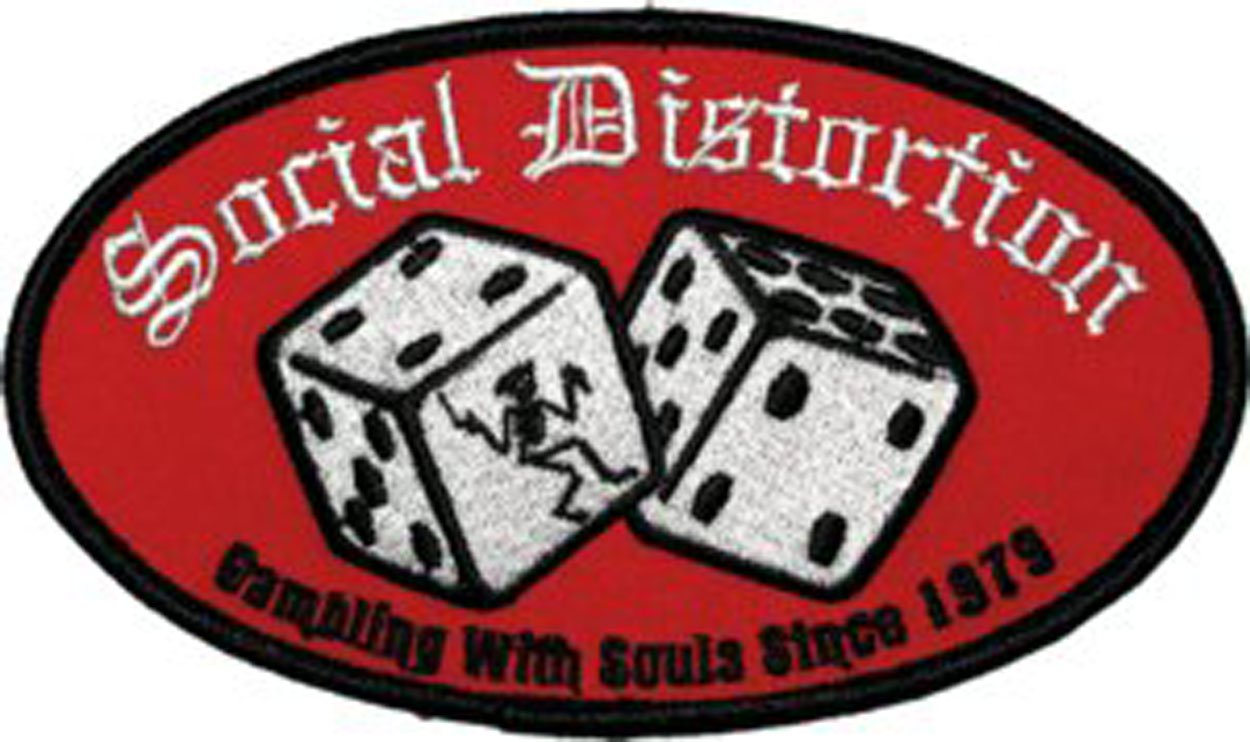 SOCIAL DISTORTION Dice PATCH, Officially Licensed Products Classic Rock Artwork, Iron-On / Sew-On, 3