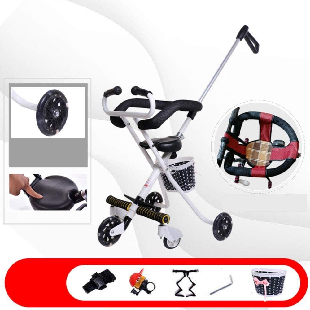 Cochecitos cochecito tres ruedas 1-5 años bicicleta antigua de niño Doblar Portátil Carretilla infantil Cochecito de bebé-B