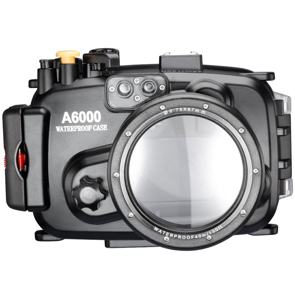 Neewer 40m 130ft Underwater PC Housing Camera Waterproof Case for Sony A6000 with 16-50mm Lens by Neewer
