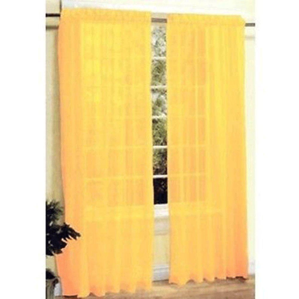 kasit Tulle voile écharpe en porte fenêtre rideau drapieren Panneau Sheer volants pour chambre salle de bain salon chambre, or