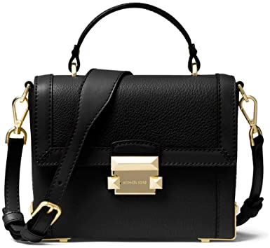 7501f01dbe4 Image Unavailable. Image not available for. Color: Michael Kors Jayne Small  Pebble Leather Trunk Bag ...