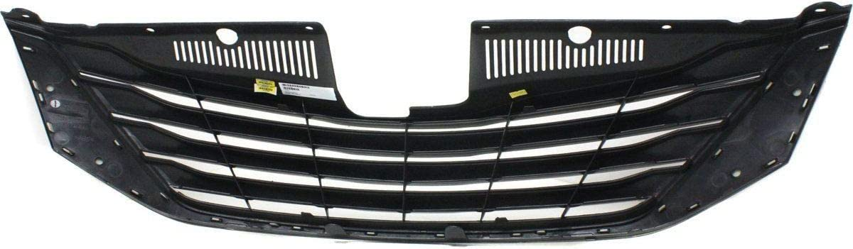 HEADLIGHTSDEPOT Front Grille Trim Molding Chrome Compatible with Toyota Sienna 11-17 Le//Limited//Xle Models