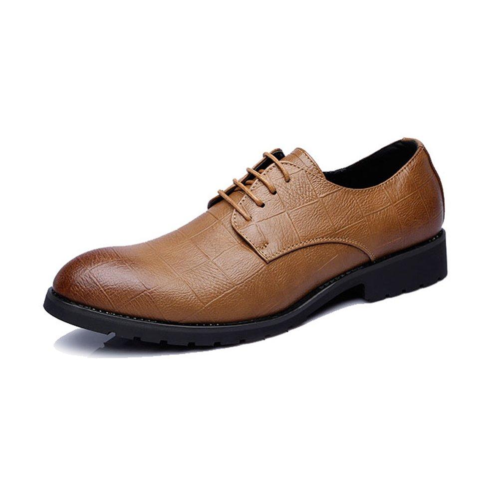 XXY Herren Business PU Leder Schuhe Klassische Lace Up Müßiggänger Quadratische Textur Niedrige Top Oxfords Mode Slipper  |  Neuer Markt