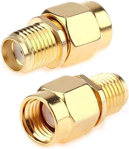 TengKo Adaptador Coaxial Coaxial SMA Hembra a RP-SMA Macho Jack Adaptador SMA Macho a SMA Hembra Cable de Extensión de Conector para Antena de Wifi ...