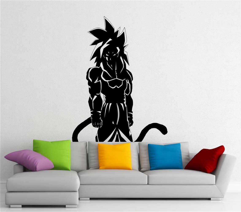 pegatinas de pared frases Son Goku Tatuajes de pared Manga Anime ...
