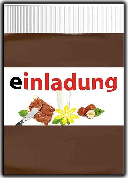 11 Unidades Tarjetas De Invitación Chocolate Divertido