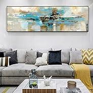 LSWMW Pintura de la Lona Color Turquesa Abstracto Lienzo Arte Pintura Mural Moderno Abstracto Graffiti Pop Art Imagen Decora
