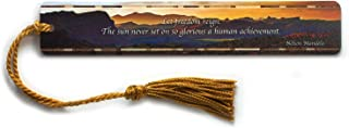 product image for Personalized Nelson Mandela Freedom Quote and Color Photograph by Mike DeCesare, Wooden Bookmark with Tassel