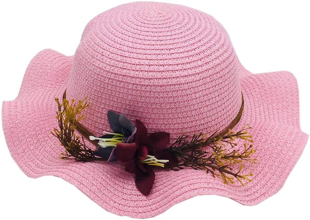ACVIP Little Girls Flowers Decorated Wedding Formal Sun Hat