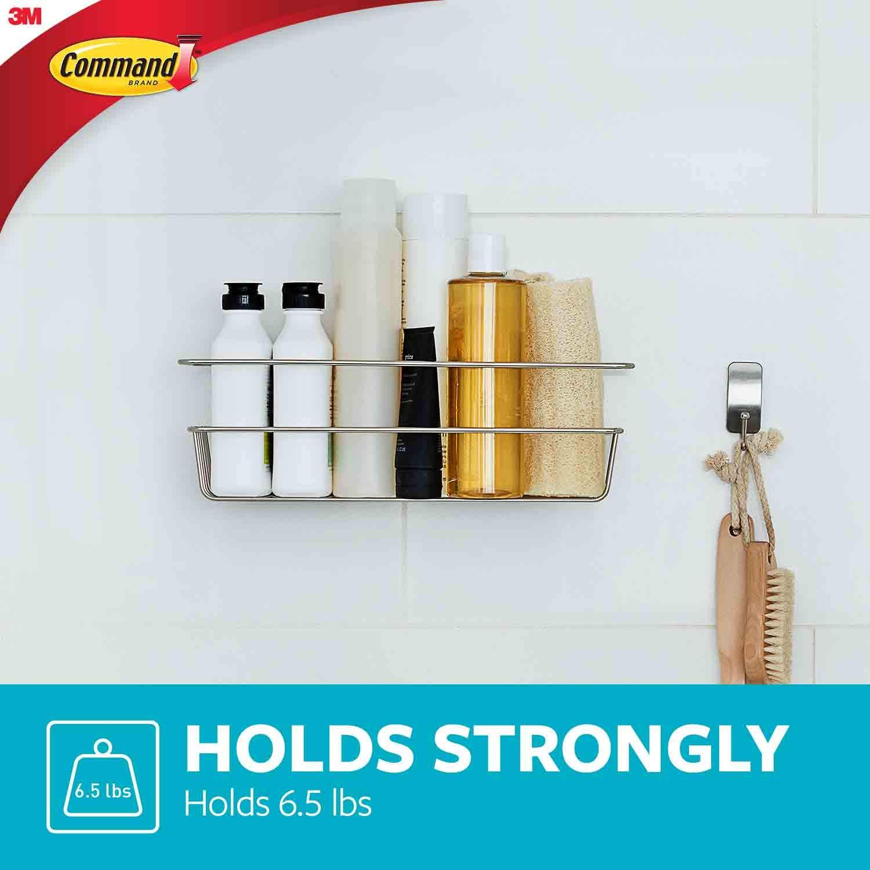 Command bath31-sn-es portaoggetti da doccia in nichel satinato