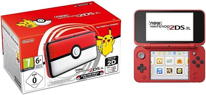 Nintendo NEW 2DS XL Edición Pokeball, Consola de juegos: Amazon.es: Videojuegos