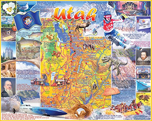 White Mountain Puzzles Utah - 1000 Piece Jigsaw - Lakes Hours Great Outlet