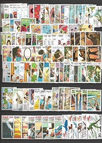 GIOCHI OLIMPICI BARCELLONA 1992-100 FRANCOBOLLI Usati