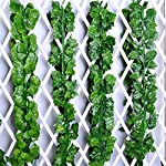 FightingFly-Greenery-Garland-12-Strands-84ft-Artificial-Greenery-Vines-Fake-Ivy-Leaves-Garland-Hanging-for-Home-Kitchen-Garden-Office-Wedding-Wall-Decor-Grape-Leaves