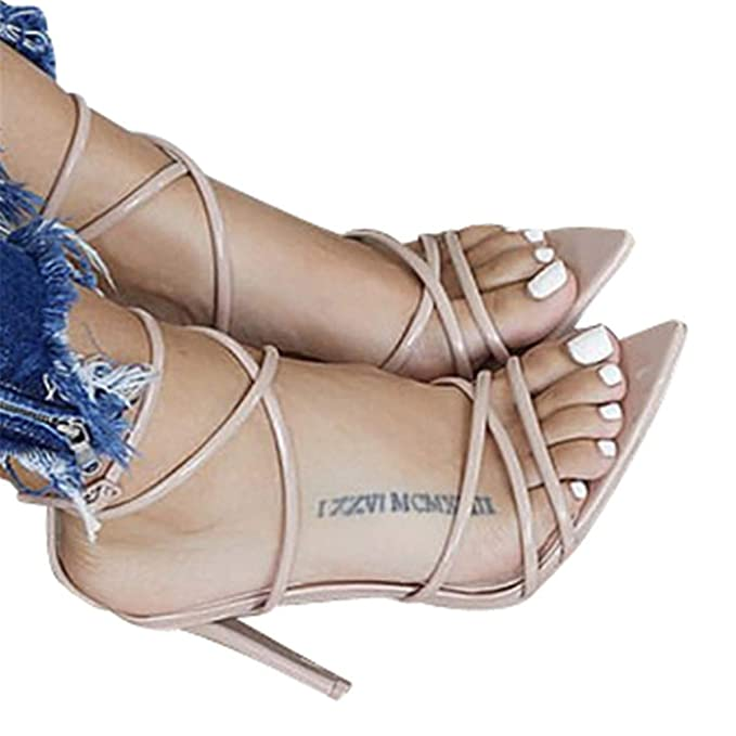 537806b3e4fbd Fainosmny Women Shoes Sexy High Heels Fashion Thin Heel Sandals Solid  Pointed Toe Shoes Party Wedding Shoes