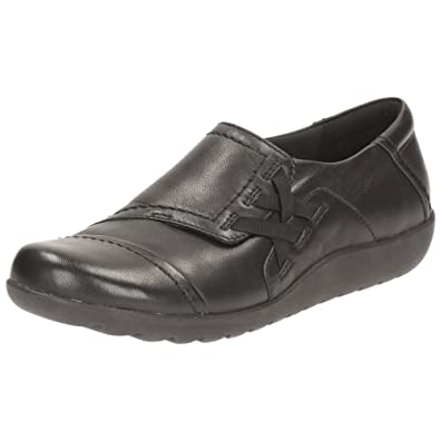 5f3f585f0f3 Clarks Medora Sandy Womens Wide Casual Slip On Shoes 8 Black  Amazon.co.uk   Shoes   Bags