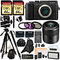 Panasonic DMC-GX8KBODY LUMIX GX8 Interchangeable Lens DSLM Camera + H-HS030 LUMIX G Macro 30 mm f/2.8-22 + 2 Transcend 64 GB + LED Kit + Polaroid Tripod + Monopod + 2 Batteries + Charger + Bags + More Key Pieces Review Image